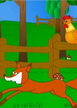 داستان روباه بلا، خروس ناقلا