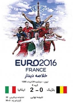 خلاصه دیدار بلژیک و ایتالیا