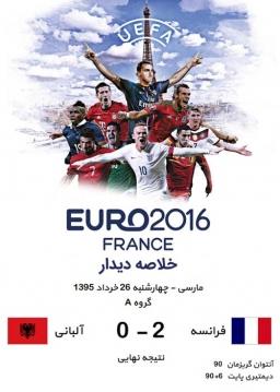 خلاصه دیدار آلبانی و فرانسه