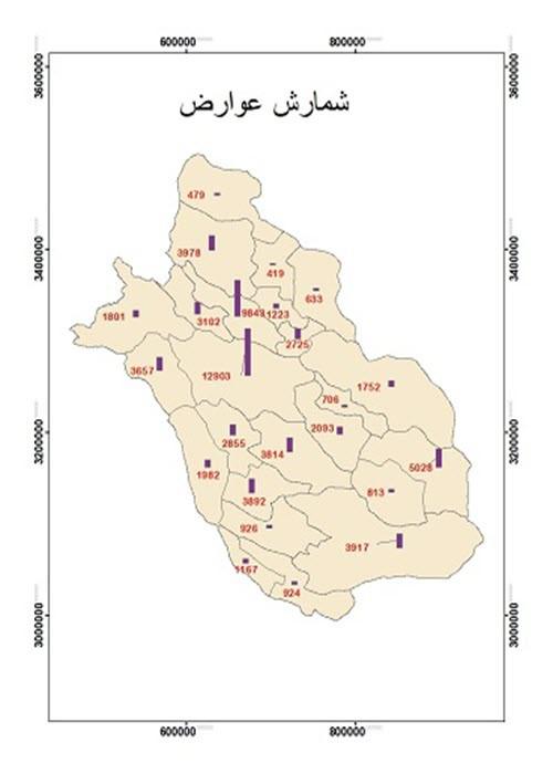 آموزش شمارش عوارض جغرافیایی در GIS
